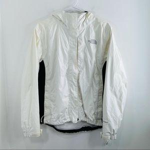 The North Face White HyVent Abuk Full Zip Jacket M